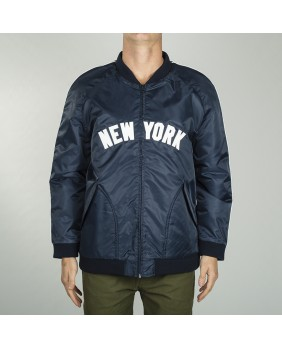 SOFT TOUCH SATIN VARSITY JACKET