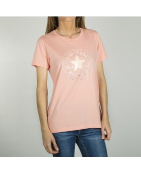 CLEAR FOIL CHUCK PATCH CREW TEE