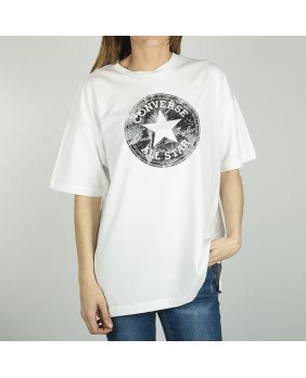 FEATHER PRINT CP FILL BOXY TEE