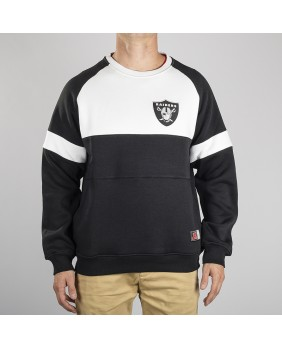 NFL RAIDERS BEDRIC SMALL LOGO CREW SWEAT