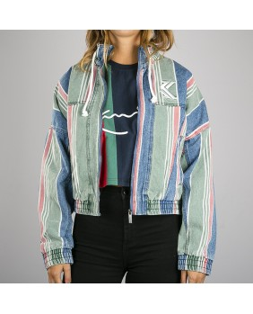 STRIPE DENIM JACKET
