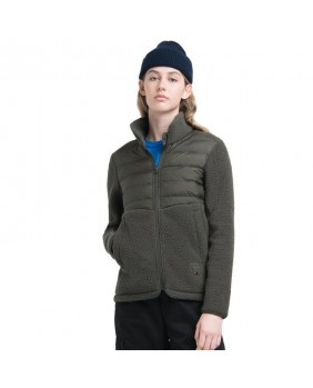 WOMEN'S HYBRID SHERPA FULL ZIP