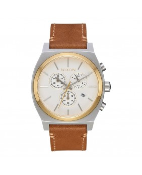 TIME TELLER CHRONO LEATHER