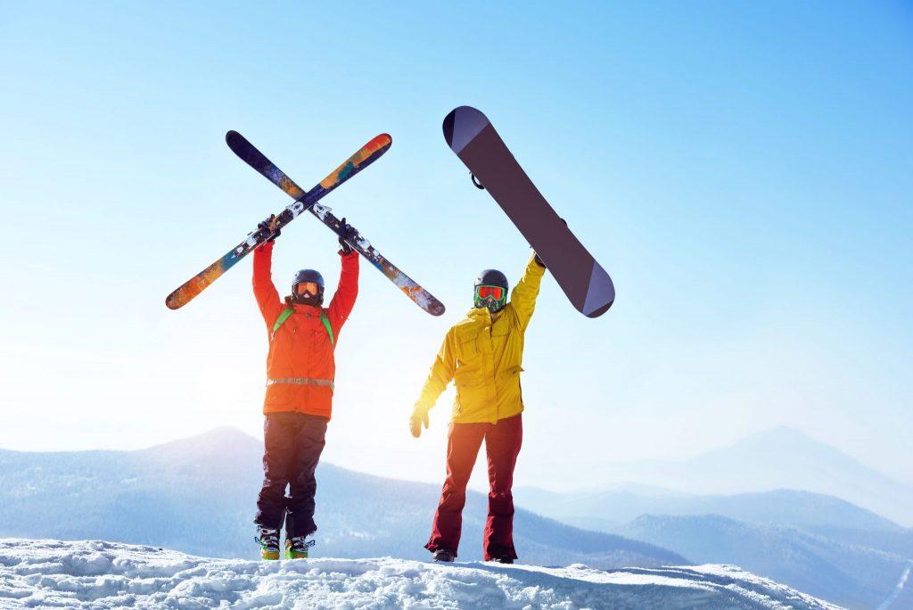 esqui o snowboard